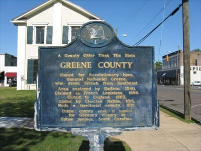 Historical marker in Eutaw, AL