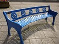Image for Blue Bench Seat - Narbeth - Wales, Great Britain.