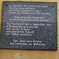 Image for Plaque for French Resistance Fighters - Brandenburg (Havel), Germany