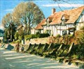 """Image for """"The Hill at Wheathampstead"""" by Stanley Orchart – Dolphin House, The Hill, Wheathampstead, Herts, UK"""