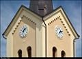 Image for Clocks on Church of Assumption of Virgin Mary / Hodiny kostela Nanebevzetí Panny Marie - Ostrava-Trebovice (North Moravia)