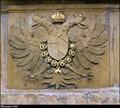 Image for Habsburg Emperor' CoA on Prague Gate portal / Císarský Habsburský znak na portálu Pražské brány - Velvary (Central Bohemia)