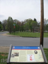 The Confederates were stopped here when they were fired upon by artillery from the hill ahead.