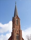 Image for St Mary Church Spire - Pontiac, Illinois, USA.