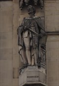 Image for Monarchs – King George IV Of United Kingdom On Side Of City Hall - Bradford, UK