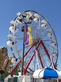 Fun Stop Ferris Wheel, From the Right, Pigeon Forge, Tennessee