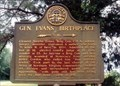 Image for Gen. Evans' Birthplace 3/4 mi. GHM 128-4