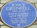 Image for Joyce Grenfell - Elm Park Gardens, London, UK