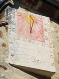 Image for Cadran solaire de l'église, Bivilliers, France.