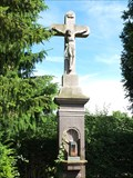 Image for Latin Cross at the wall of cemetery in Queckenberg - NRW / Germany