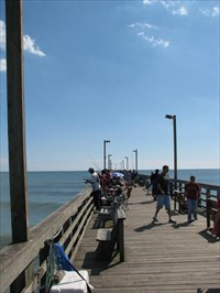 Sea view fishing pier north topsail beach north for Topsail fishing pier
