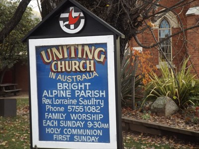 The sign for the Uniting Church. 1610, Tuesday, 17 May, 2016