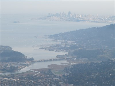 View of Sausalito and San Francisco from Mt. Tam