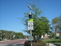 Image for Solar powered flashing speed limit sign - Eatonville, FL