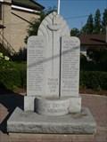 Image for OMEMEE DISTRICT WAR MEMORIAL - Omemee, Ontario