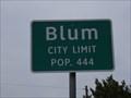 Image for Blum, TX - Population 444