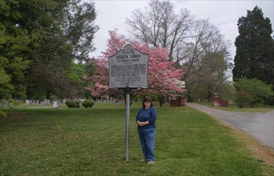 geotrooperz-gm at the Spesutia Church historical marker in Perryman, Harford County, Maryland