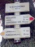Image for Rozcestník turistických tras - U stadionu, CZ