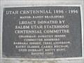 Image for Utah Centennial 1896-1996 - Salem, Utah