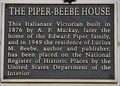 Image for The Piper-Beebe House