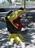 Image for Laughing Lion Fountain ~ Dubois, Wyoming