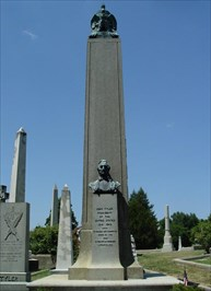 President Tyler is buried in Presidents Circle in Richmond Hollywood Cemetery