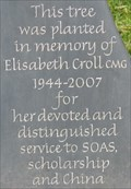 Image for Elisabeth Croll - SOAS, Thornhaugh Street, London, UK