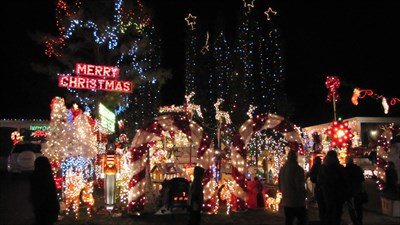 ilona park dr pickering christmas lights display holiday displays on waymarkingcom