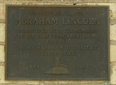 Abraham Lincoln worshiped here!