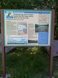 A sign explaining how the area was formed.