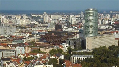 This is a screenshot from view number 6 of web camera Slavín (17-09-2014).
