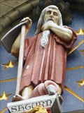 Image for Clock Tower Statue - Saturn - Cardiff Castle, Wales.