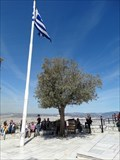 Image for Greek flag over St.George Lycabettus (highest point in Athens) - Athens - Greece
