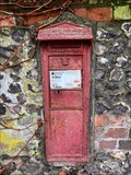 Image for Victorian Wall Post Box - Hurstbourne Priors, near Whitchurch, Hampshire, UK