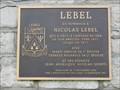 Image for Plaque de Nicolas Lebel - Château-Richer, Québec