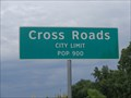 Image for Cross Roads, TX - Population 900