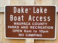Image for Dake Lake Boat Ramp - Waupaca, WI