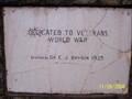 Image for Dedicated to Veterans World War Memorial, Liberty, South Carolina