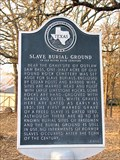 Image for Slave Burial Ground in Old Round Rock Cemetery