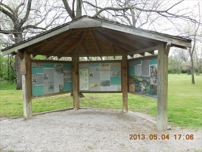 Information kiosk at the Battle Park, by MountainWoods