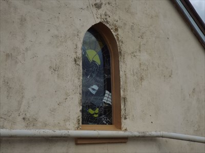 View of the Stained Glass Window, from the back of the Church.1634, Thursday, 8 February, 2018