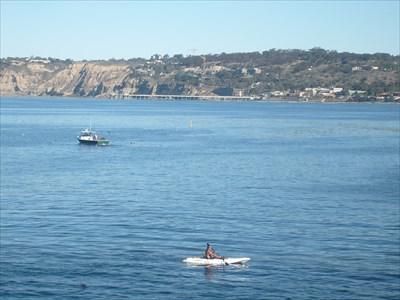 Looking across La Jolla Cove towards Scripps pier