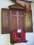 Image for WWI Memorial - Church of St.Michael and All Angels, Bruisyard Road, Peasenhall, Suffolk. IP17 2HL.