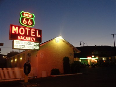 Route 66 Motel Antique Hotel Barstow California Usa