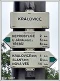 Image for Rozcestník turistických tras - Královice, Královice, CZ