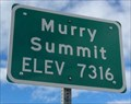 Image for Murry Summit - Elevation 7316 feet