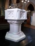 Image for Stone Font - St Samlet Church, Llansamlet, Wales, Great Britain.