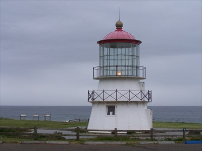 The restored lighthouse sits on Bureau of Land Management administered land at Shelter Cove, California