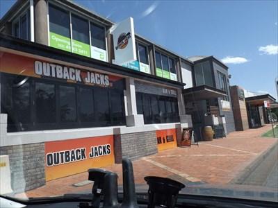 A street-view of Outback Jacks, Maitland.