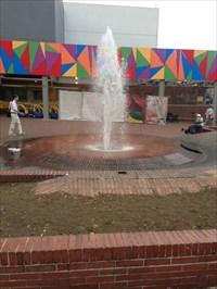 Unicentro Mall Fountain, View 2, Medellin, Colombia